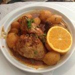 roast chicken with potato