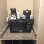 Coffee maker and microwave