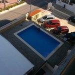 Vue du balcon (piscine)