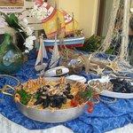 paella marinera servita in terrazza !