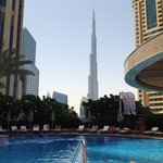 pool view to burj khalifa