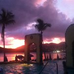 Amazing sunset from the pool