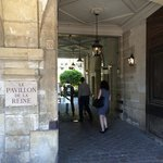 Entry to the hotel from Place des Vosges