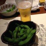 枝豆とキリンビール