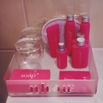 Pink amenities, yay!