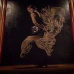 A painting illustrating a very elegant Flamenco dancer