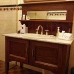 Love the antique sink!