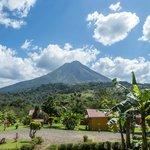 vista hacia el volcán