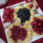 Fruits de saison au petit déjeuner... Hum!