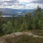 Amazing view from Venilifjellet, just above the cabins