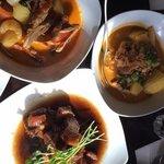 a good selection, red duck curry, beef massaman, jims pork belly