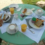 amazing breakfast with local produce, fresh cakes
