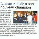4 éme championnat du monde de macaronade Sètoise 2014