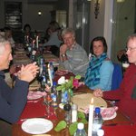 Dinner time for African Bikers Tours
