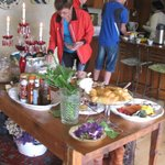 Breakfast time for African Bikers Tours