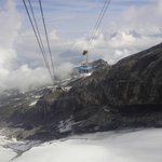 Ride up to mount Titlis
