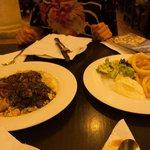 arroz negro e calamari fritti