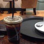Apparently a medium americano at caffee Nero.