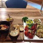 Prawns & grilled vegetables