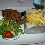 Sirloin steak & French fries