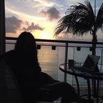 Sunset in room balcony