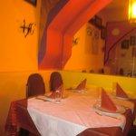 Decor of restaurant