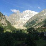 Aussicht aus meinem Zimmer Richtung Mont Blanc