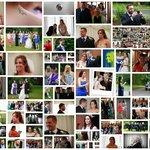 Collage of wedding guests of Mr & Mrs Smith