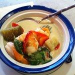 Crevettes au curry vert!!!!��