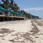 Terrasse de l'hôtel vue de la plage