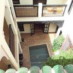 Vue d'une terrasse d'une des 2 cours