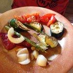 Parrillada de verduras con queso