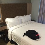 Small room but function, nice pillows!