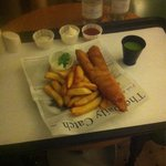 Room service-fish and chips!