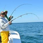 Light tackle striped bass fishing