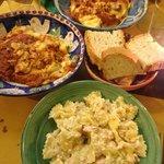 the popular lasagne and the farfalla pasta with salmon and cream