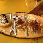 Grandma's cake, Seminola Dk Chocolate Cake & Blueberry Cheesecake