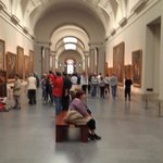 Inside one of the Prado galleries