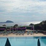 Fantastica veduta da una terrazza del resort