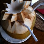Young coconut drink with very tender and soft coconut flesh ideal replacement as dessert only fo