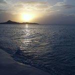 Sunrise at the hotel beach
