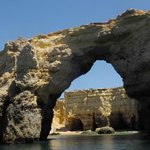 Grottes marines , au départ de la plage.