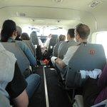 interior de la avioneta del sobrevuelo a las Líneas de Nazca