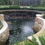 One of several waterfall fountains