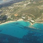 Resort from plane - yes you are on flight path but not an issue as so few flights