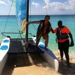 Sailing on catamarans at The Ritz Carlton Grand Cayman