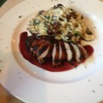 Duck breast with Cremini mushroom risotto