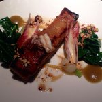 Pork belly with baby squid!