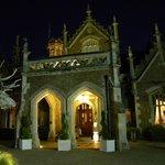 entrance after dark