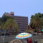our hotel from the beach